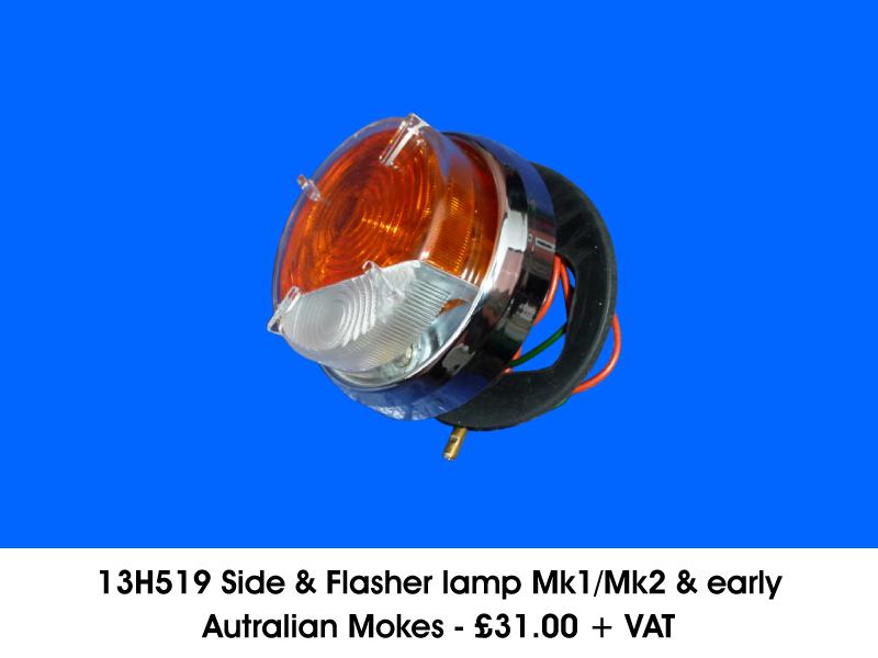 13H519 SIDE & FLASHER LAMP MK1/MK2 & EARLY AUSTRALIAN MOKES