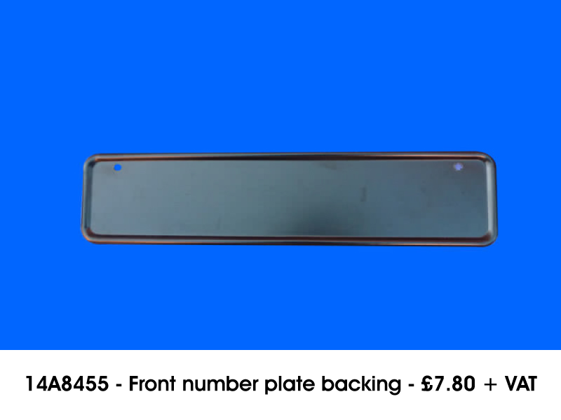 14A8455 - FRONT NUMBER PLATE BACKING