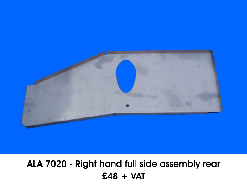 ALA 7020 - RIGHT HAND FULL SIDE ASSEMBLY REAR
