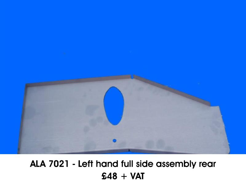 ALA 7021 - LEFT HAND FULL SIDE ASSEMBLY REAR