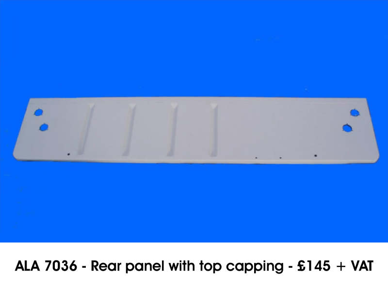 ALA 7036 - REAR PANEL WITH TOP CAPPING