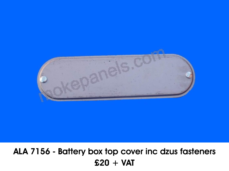 ALA 7156 - BATTERY BOX TOP COVER INC DZUS FASTENERS