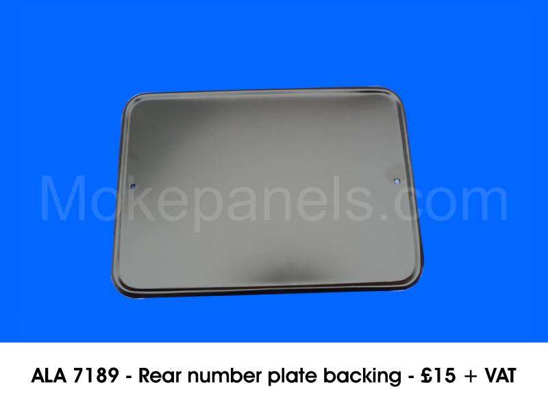 ALA 7189 - REAR NUMBER PLATE BACKING