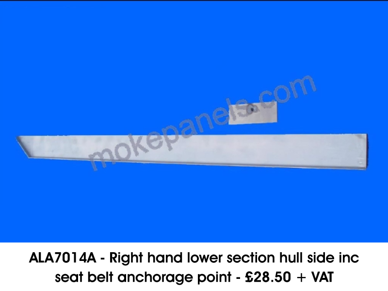 ALA7014A - RIGHT HAND LOWER SECTION HULL SIDE INC SEAT BELT ANCHORAGE POINT