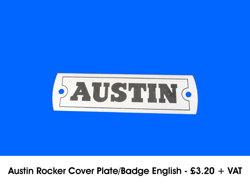AUSTIN ROCKER COVER PLATE/BADGE ENGLISH