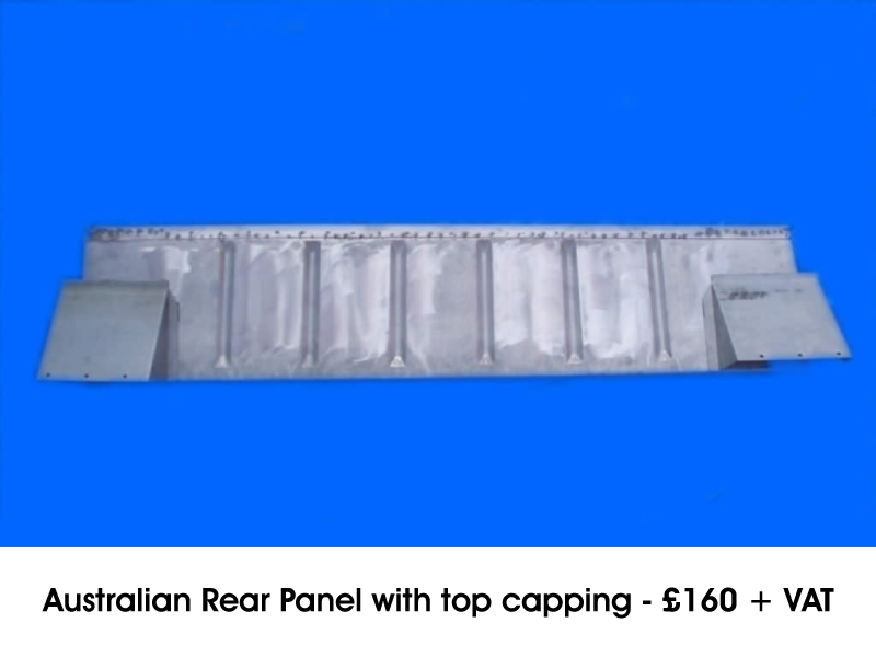 AUSTRALIAN REAR PANEL WITH TOP CAPPING
