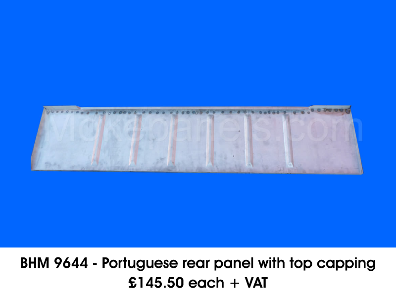 BHM 9644 - PORTUGUESE REAR PANEL WITH TOP CAPPING