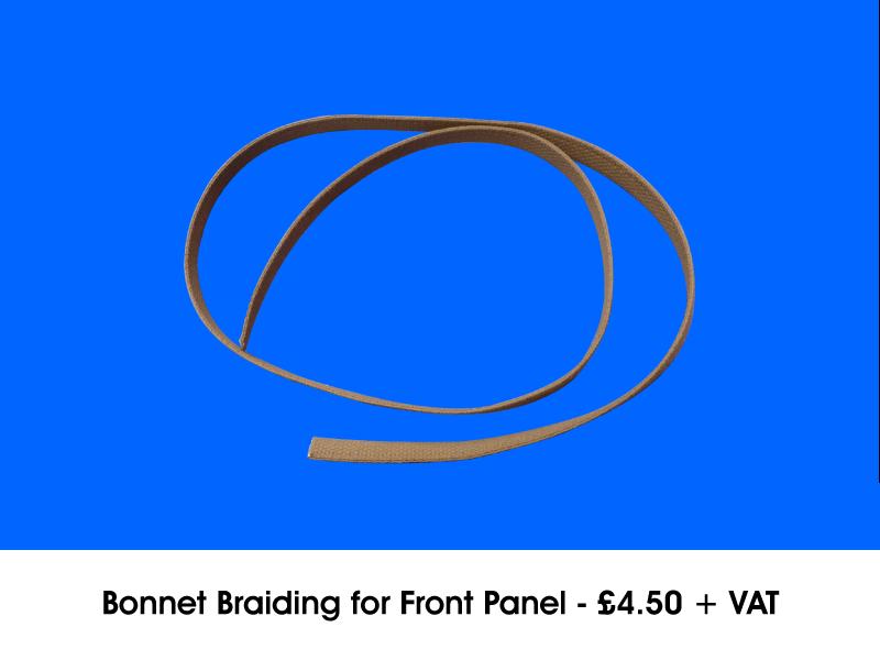 BONNET BRAIDING FOR FRONT PANEL