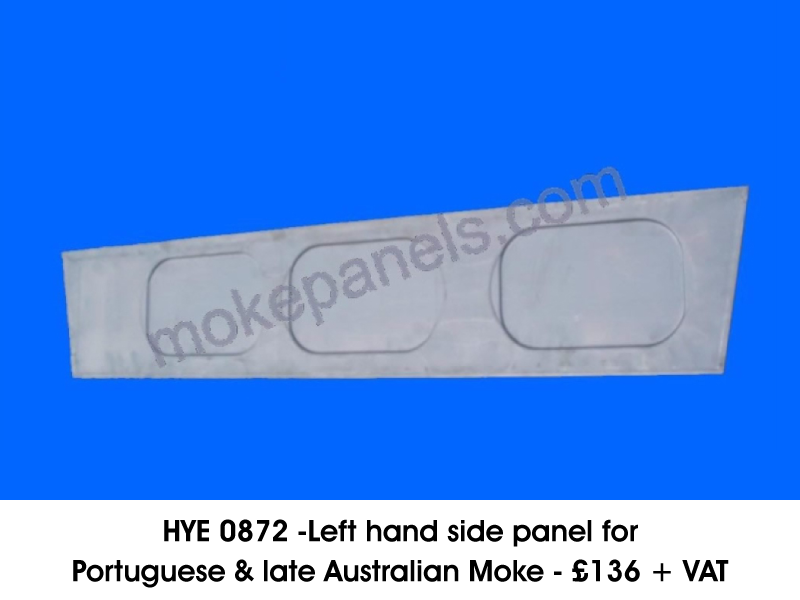 HYE 0872 - LEFT HAND SIDE PANEL FOR PORTUGUESE & LATE AUSTRALIAN MOKE