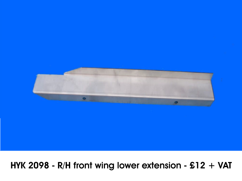 HYK 2098 - R/H FRONT WING LOWER EXTENSION