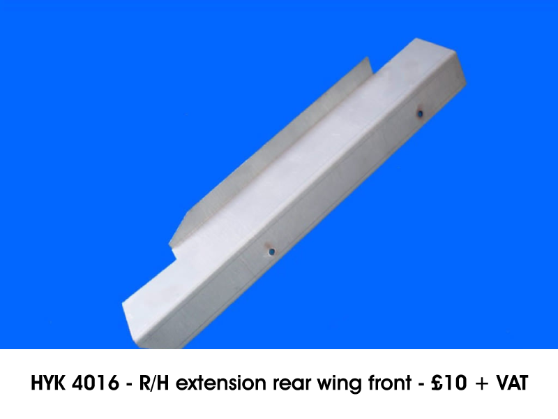 HYK 4016 - R/H EXTENSION REAR WING FRONT