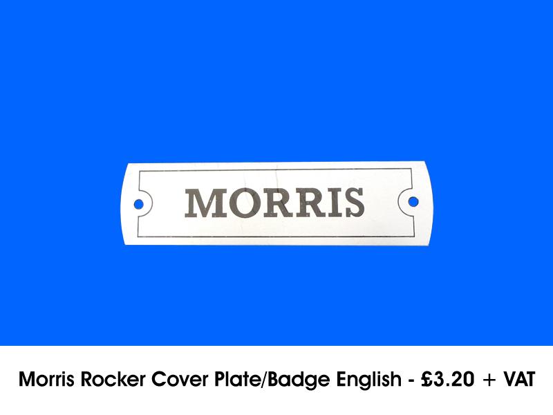MORRIS ROCKER COVER PLATE/BADGE ENGLISH