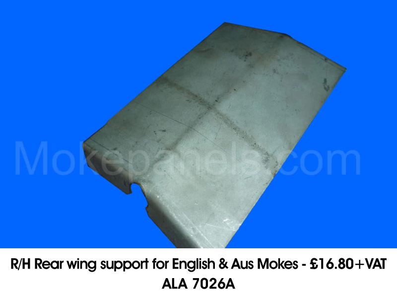 R/H REAR WING SUPPORT FOR ENGLISH & AUS MOKES