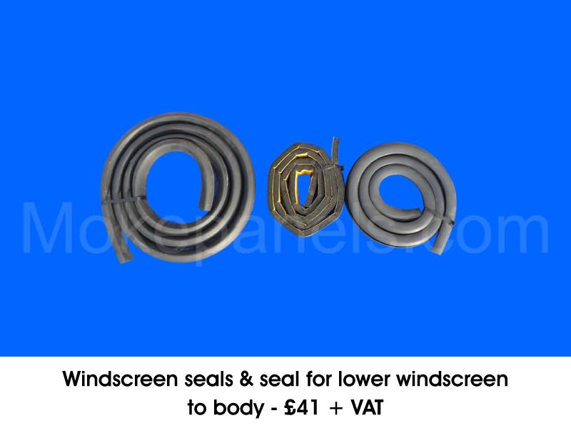 WINDSCREEN SEALS & SEAL FOR LOWER WINDSCREEN TO BODY
